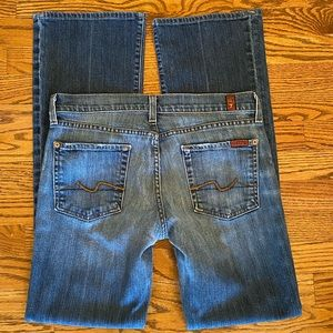 7 For All Mankind 'bootcut' Jeans Sz 29 EUC